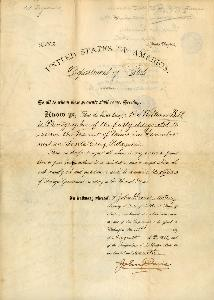 William Bell's Department to State Introduction, August 31, 1882 - front of document