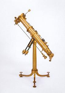 Heliometer by Utzschneider & Fraunhofer, used by Auwers for the 1874 transit and by Schrader and Clauss for the 1882 transit
