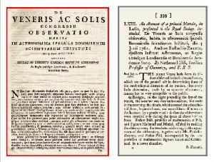 De Veneris ac Solis congressu. Observatio habita in astronomica specula Bononiensis Scientiarum Instituti die 5 Junii 1761.