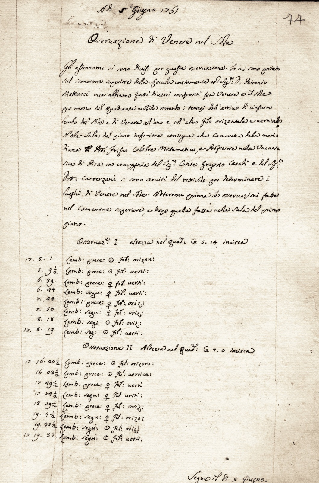 Logbooks of the Bologna astronomical O