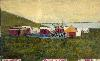 Camp Brooklyn, Santa Cruz, Patagonia, December 16, 1882, Hand-Tinted Photograph